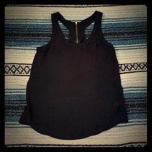 Express Black tank with zipper • size small